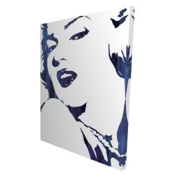 Canvas 36 x 48 - 3D - Marilyn monroe in blue