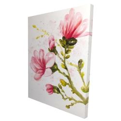 Canvas 36 x 48 - 3D - Watercolor magnolia flowers