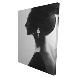 Canvas 36 x 48 - 3D - Chic woman