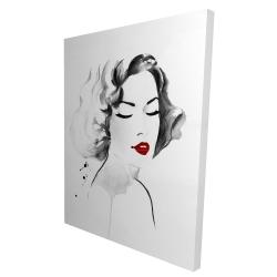 Canvas 36 x 48 - 3D - Watercolor woman