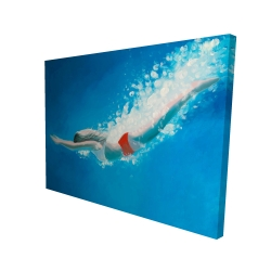 Canvas 36 x 48 - 3D - Diving jump