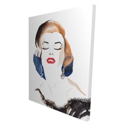 Canvas 36 x 48 - 3D - Vintage chic maryline monroe
