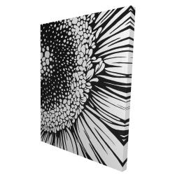 Canvas 36 x 48 - 3D - Gerbera flower