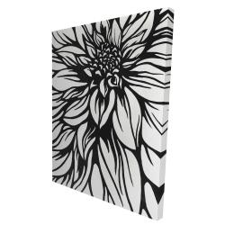 Canvas 36 x 48 - 3D - Dahlia flower outline style