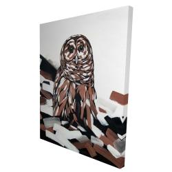 Canvas 36 x 48 - 3D - Tawny owl