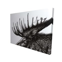 Canvas 36 x 48 - 3D - Moose plume