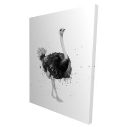 Canvas 36 x 48 - 3D - Proud ostrich