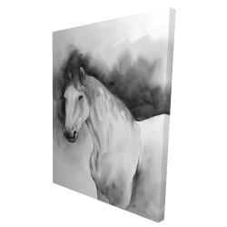Canvas 36 x 48 - 3D - Domino horse
