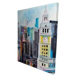 Canvas 36 x 48 - 3D - Colorful cityscape of manhattan
