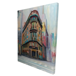 Canvas 36 x 48 - 3D - Building architecture in new-york