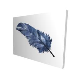 Canvas 36 x 48 - 3D - Blue feather