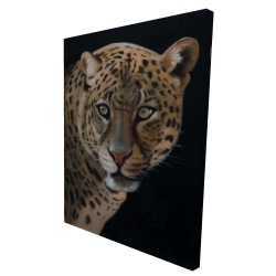 Canvas 36 x 48 - 3D - Realistic fierce leopard