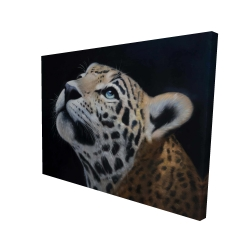 Canvas 36 x 48 - 3D - Realistic leopard face