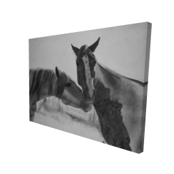 Canvas 36 x 48 - 3D - Horses lover