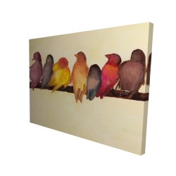 Canvas 36 x 48 - 3D - Bird family