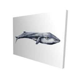Canvas 36 x 48 - 3D - Watercolor whale