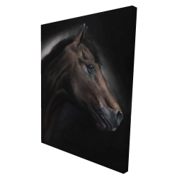 Canvas 36 x 48 - 3D - Loneliness horse