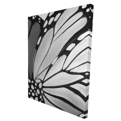 Canvas 36 x 48 - 3D - Monarch wings closeup