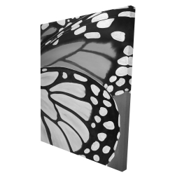 Canvas 36 x 48 - 3D - Butterfly wings closeup