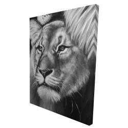 Canvas 36 x 48 - 3D - Lion and lioness