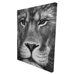 Canvas 36 x 48 - 3D - Lion portrait