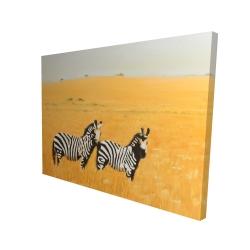 Canvas 36 x 48 - 3D - Herd of zebra