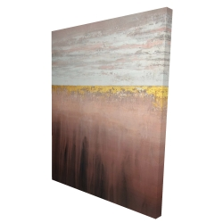 Canvas 36 x 48 - 3D - Golden pink