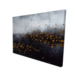 Canvas 36 x 48 - 3D - Two shades of gray with gold dots