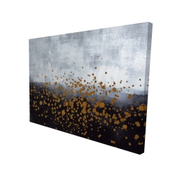 Canvas 36 x 48 - 3D - Gold paint splash on gray background