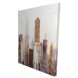 Canvas 36 x 48 - 3D - Abstract earthy tones city