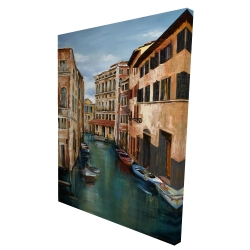 Canvas 36 x 48 - 3D - Magical venice canal