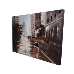 Canvas 36 x 48 - 3D - Morning street scene