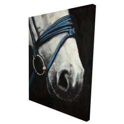 Canvas 36 x 48 - 3D - Horse with harness