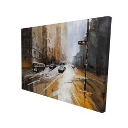 Canvas 36 x 48 - 3D - Abstract city street
