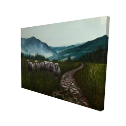Canvas 36 x 48 - 3D - Sheep in the countryside