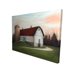 Canvas 36 x 48 - 3D - White barn