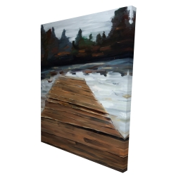 Canvas 36 x 48 - 3D - Dock and lake