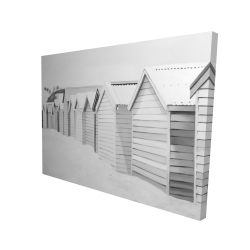 Canvas 36 x 48 - 3D - Beach cabins