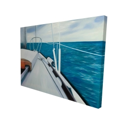 Canvas 36 x 48 - 3D - Sail on the water