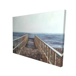 Canvas 36 x 48 - 3D - Relaxing beach