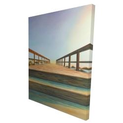 Canvas 36 x 48 - 3D - Footbridge