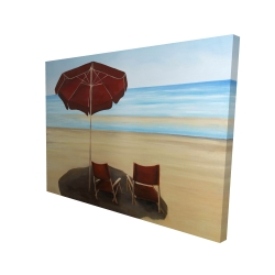 Canvas 36 x 48 - 3D - Relax at the beach