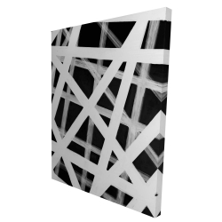 Canvas 36 x 48 - 3D - Geometric stripes