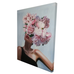 Canvas 36 x 48 - 3D - See life in flowers