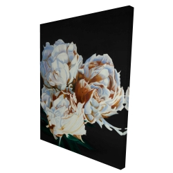 Canvas 36 x 48 - 3D - Blooming peonies