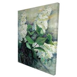 Canvas 36 x 48 - 3D - White lilacs