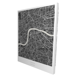 Canvas 36 x 48 - 3D - Graphic map of london