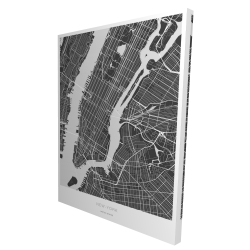 Canvas 36 x 48 - 3D - New york graphic map