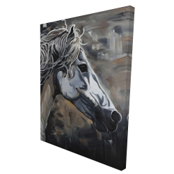 Canvas 36 x 48 - 3D - Side of a wild horse
