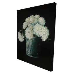 Canvas 36 x 48 - 3D - White hydrangea flowers